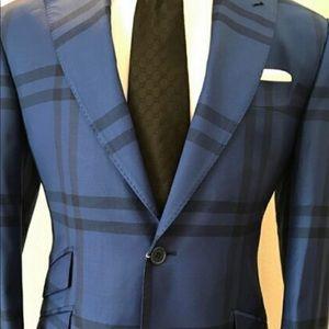 Other - Blue/black Burberry super 150 cerruti wool suit